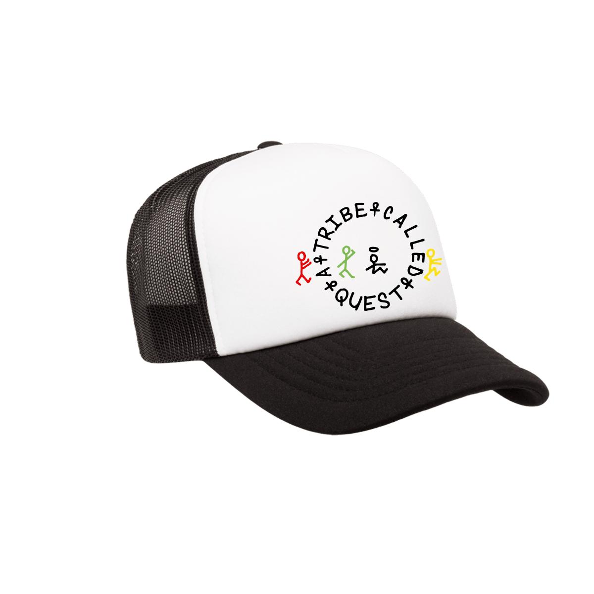ATCQ Classic Logo Black and White Trucker Hat