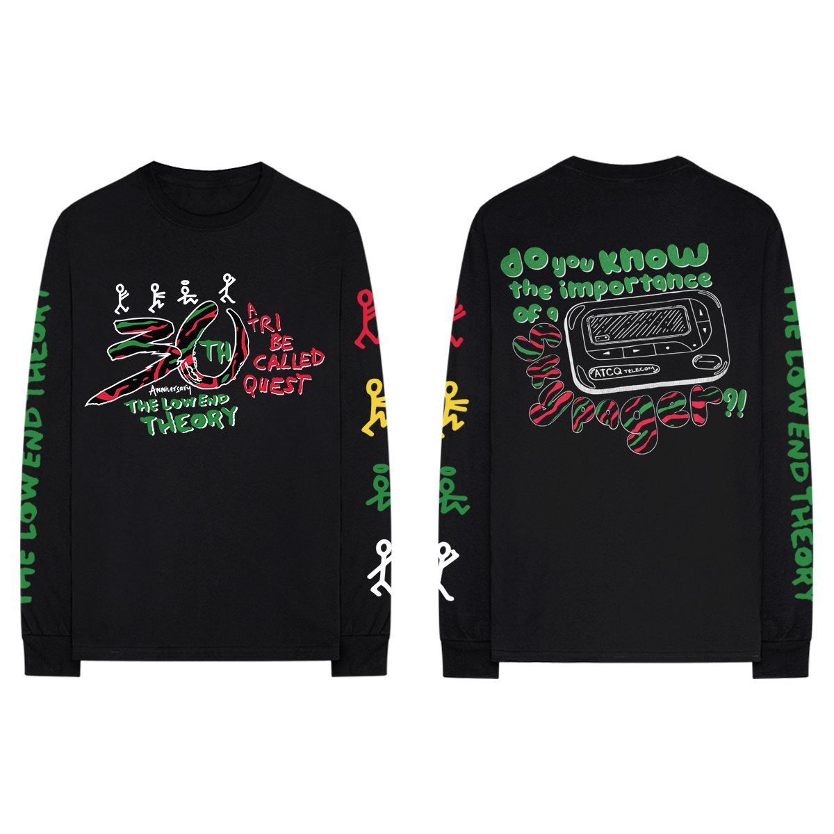 Low End Theory 30th Anniversary Black Long-Sleeve Tee