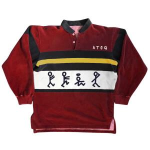 ATCQ Figures Red Long-Sleeve Polo Shirt