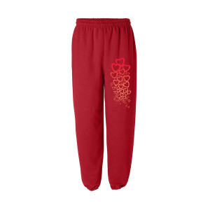 A Tribe Called Quest Bonita Raining Hearts Gradient Sweatpant