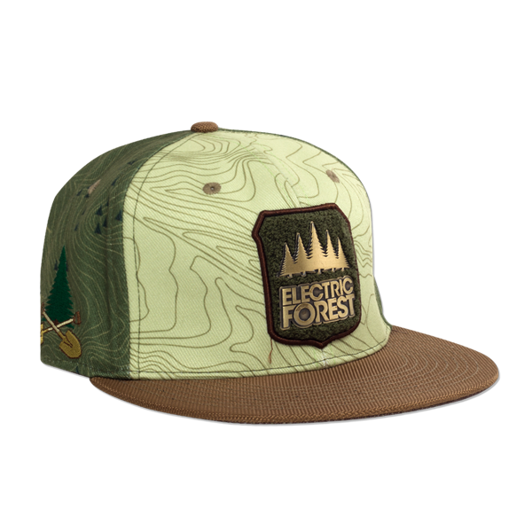 2d6f6356 Official 2017 Grassroots California custom flat brim, snap back - FOREST  PATCH