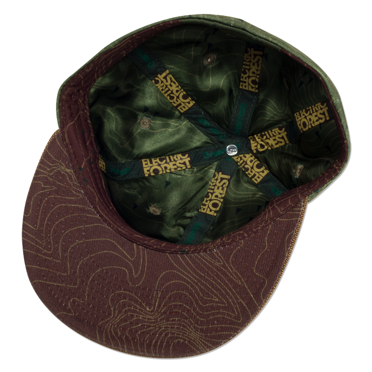 Official 2017 Grassroots California custom flat brim, fitted hat - FOREST PATCH