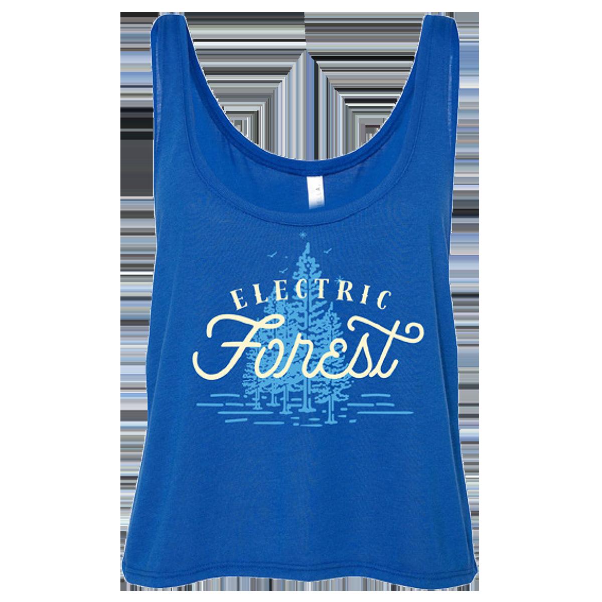 Electric Forest Script Ladies Crop Tank