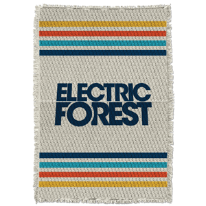 Electric Forest Blanket - Natural
