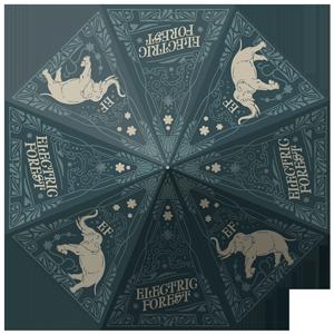Rain or Shine Custom Forest Umbrella