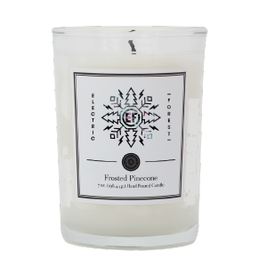 The EF Holiday 2020 Capsule Pinecone Candle