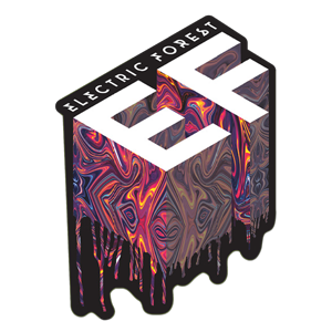 Electric Forest Acid Drip Sticker
