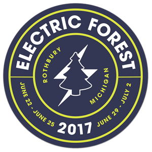 Electric Forest Seal Sticker