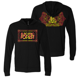 Electric Forest Rectangle Zip Hoodie