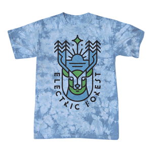 Electric Forest Deer Crackle Tie-Dye