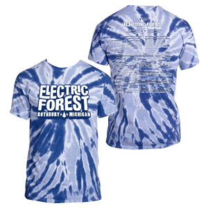 Electric Forest 2017 Artist Lineup Tie Dye