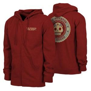 2017 Los Muertos Con Queso Red Hoodie