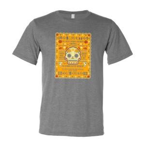 2017 Los Muertos Con Queso Grey Shirt