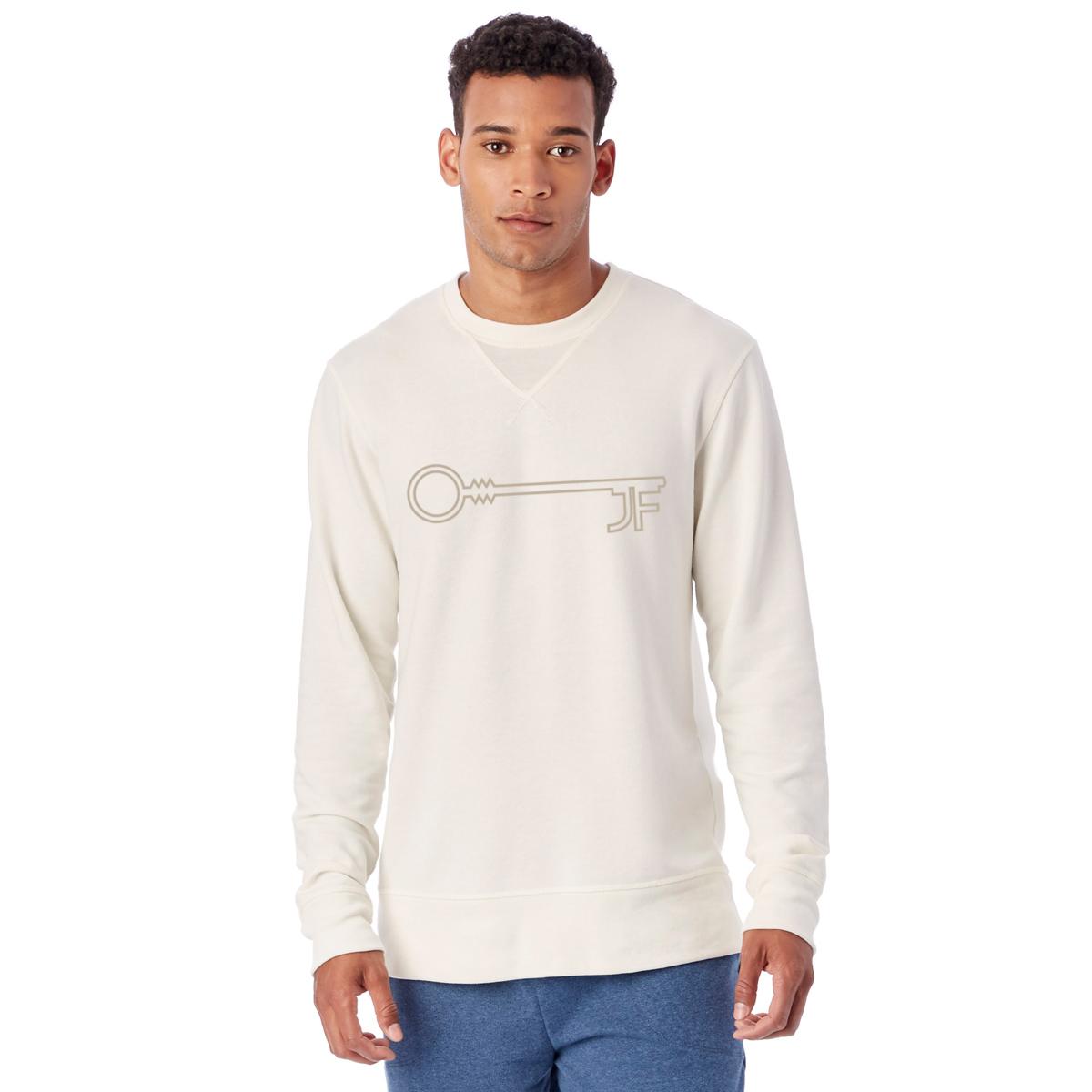 JF Key Unisex Cream Crewneck Sweatshirt