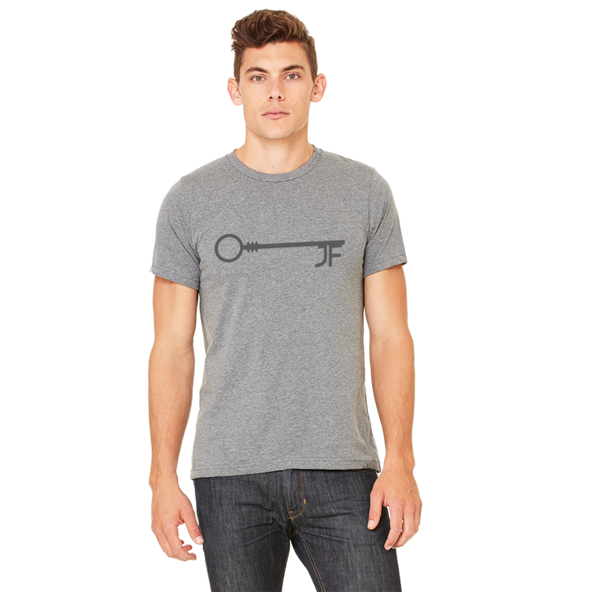 JF Key Heather Grey Men's Tee