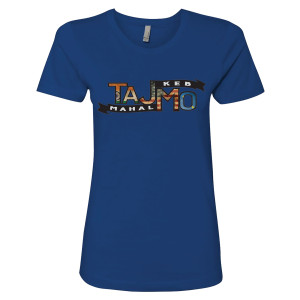 Ladies' Blue TajMo Flag Tee