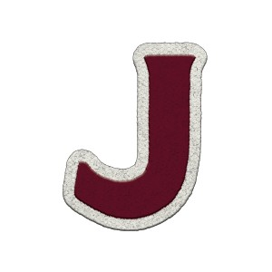 J Chenille Patch
