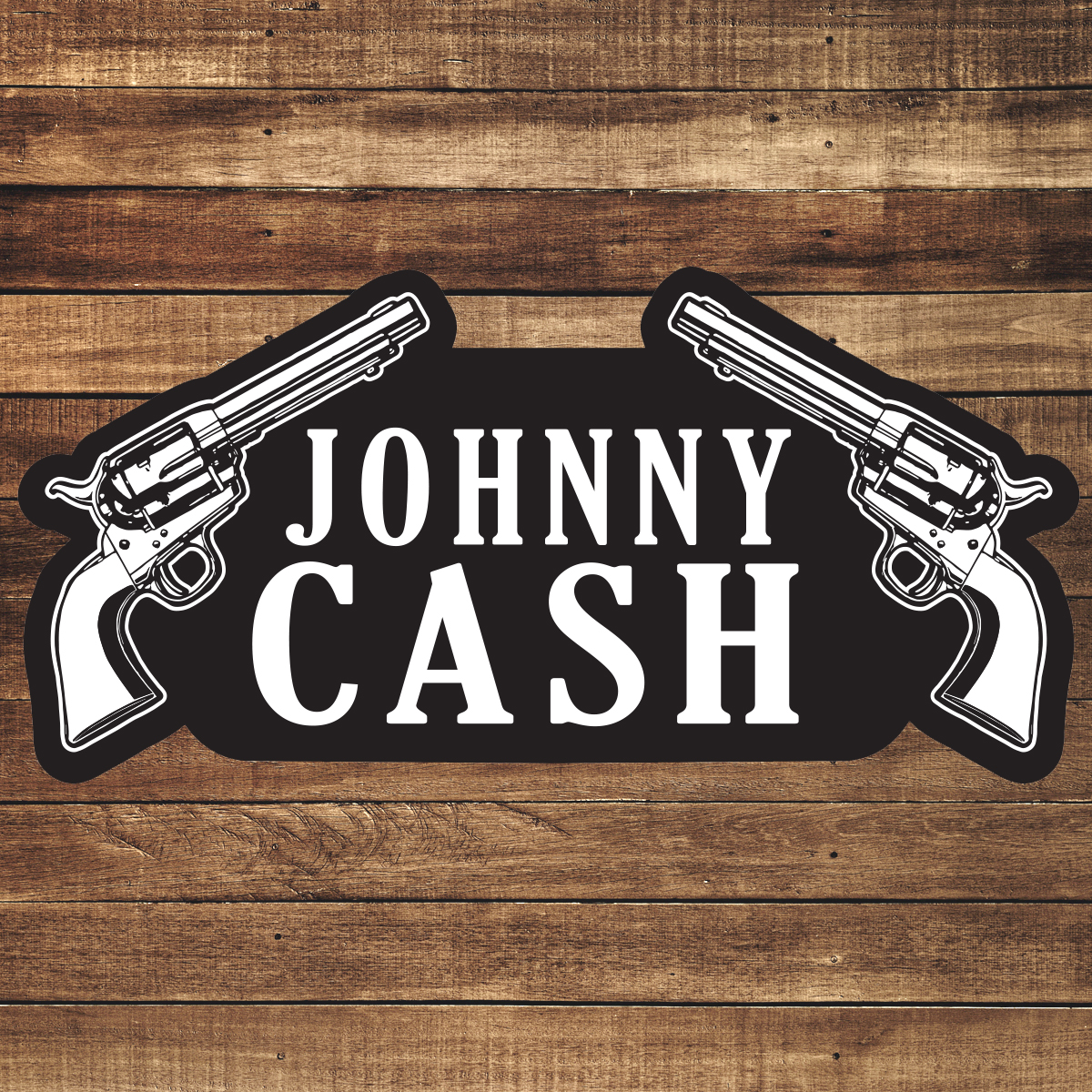 Johnny Cash Two Guns Patch