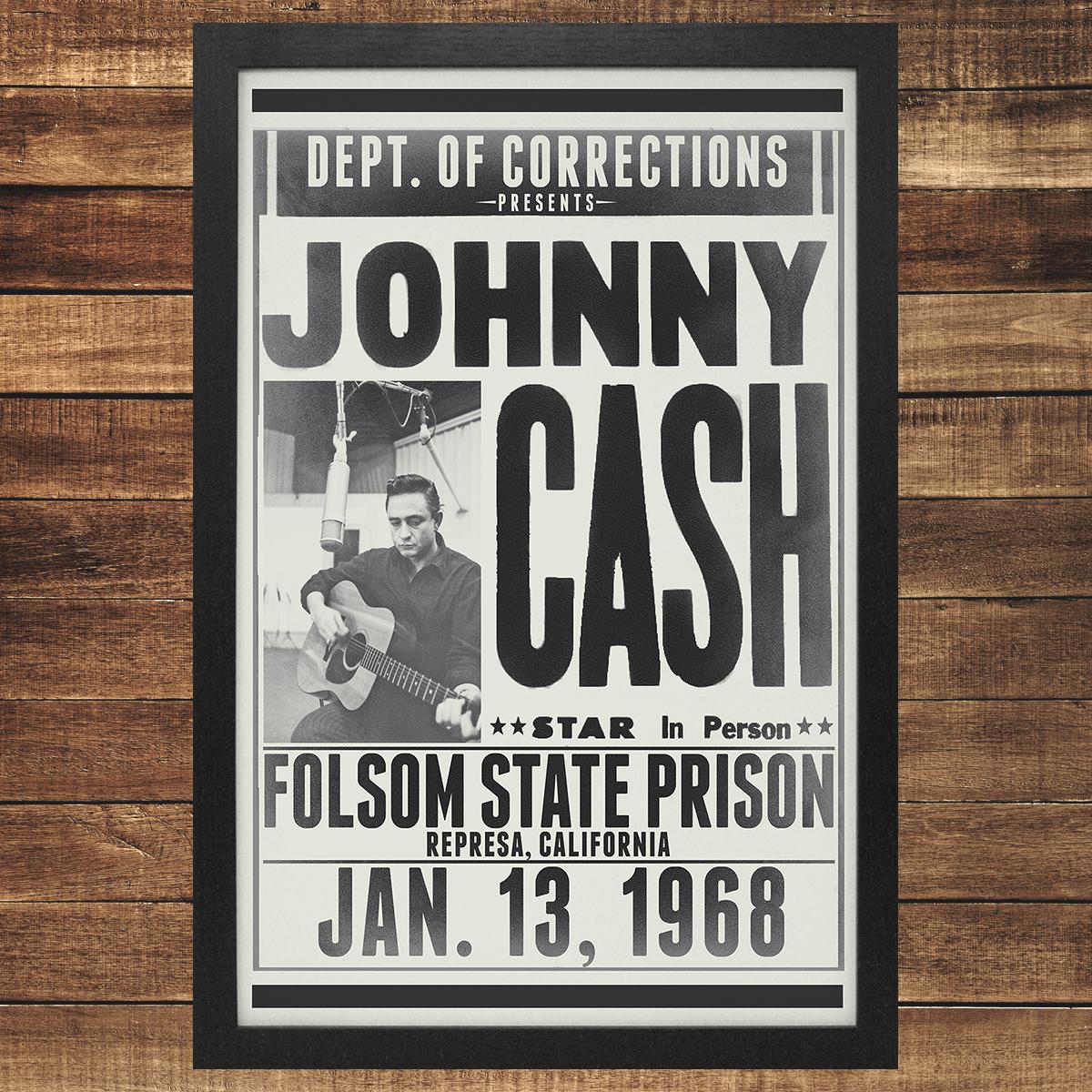 Folsom State Framed Poster