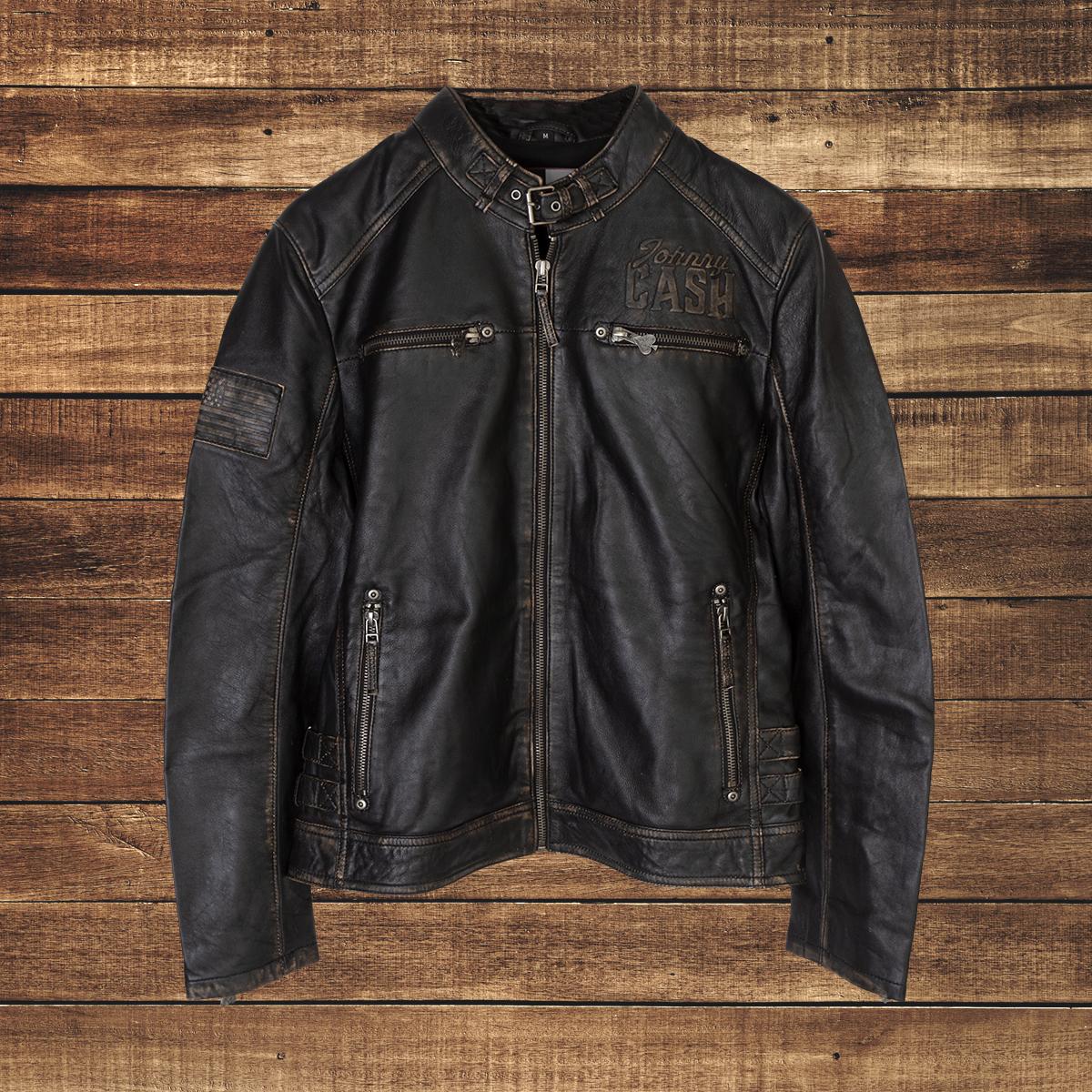 EMP JC Ace of Spades Black Leather Jacket