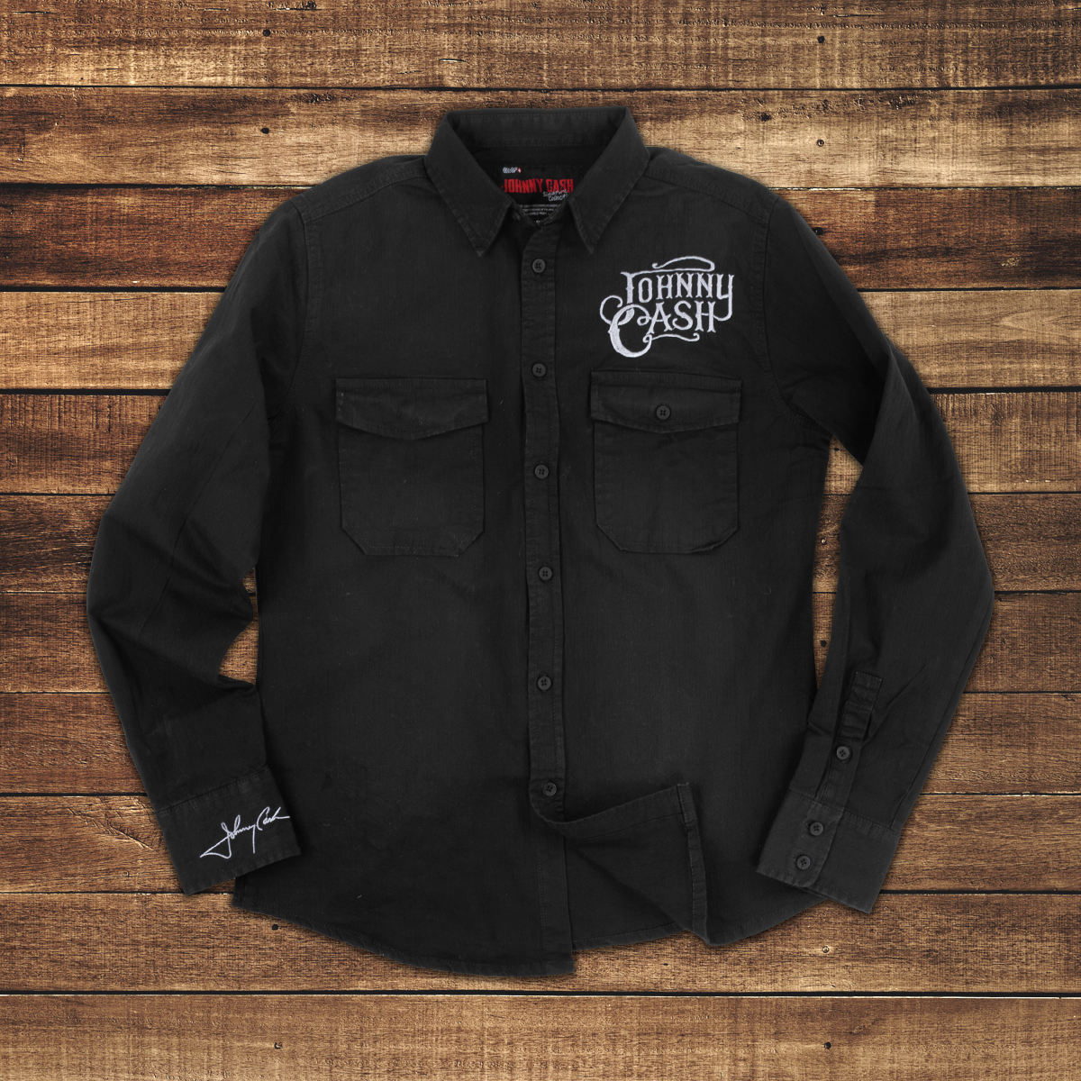 EMP JC MIB Black Button Up Collared Shirt