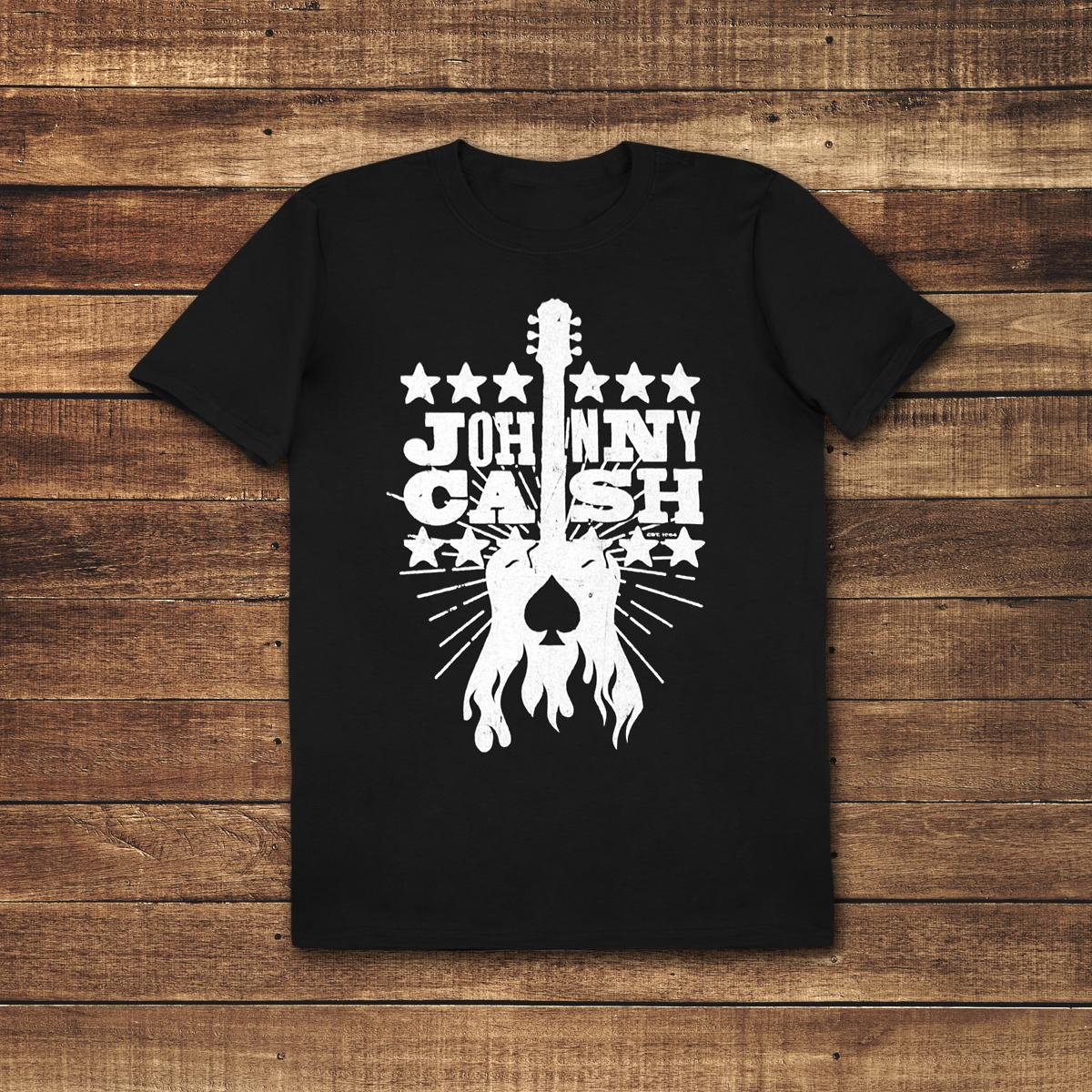 Woodcut Guitar Youth T-Shirt
