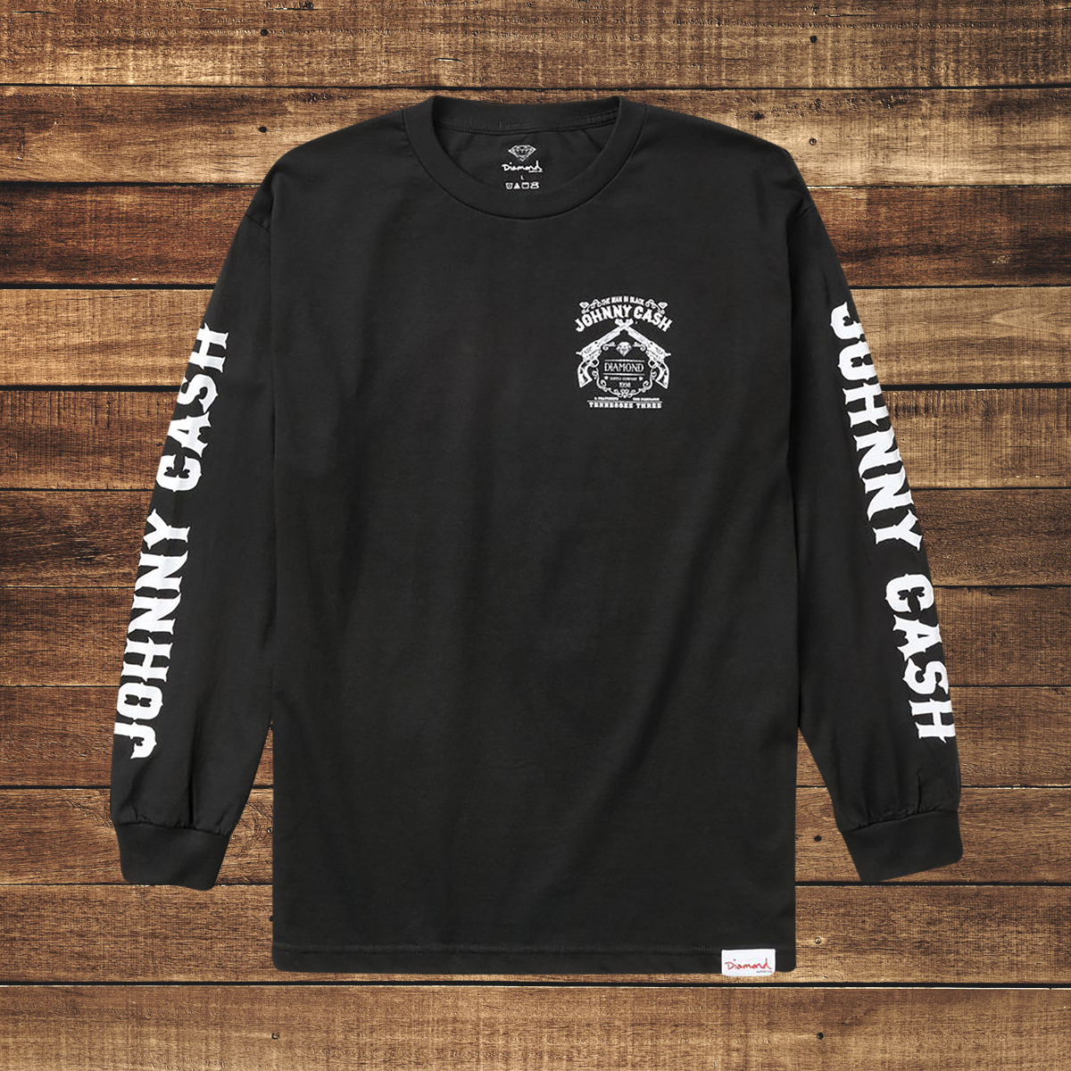 Tennessee Three Long Sleeve Black T-Shirt