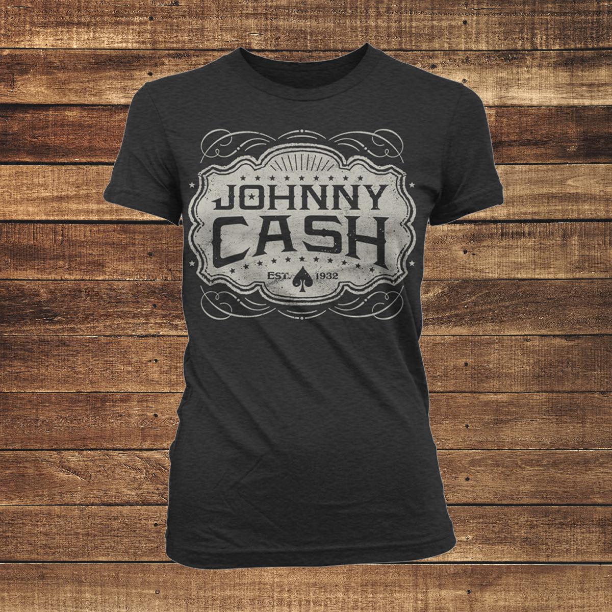 Johnny Cash Emblem Women's T-Shirt