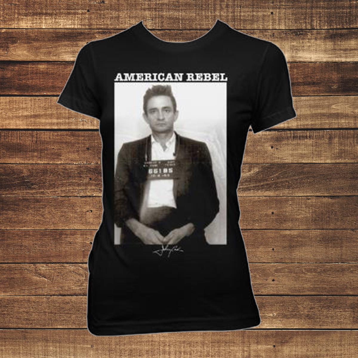 Johnny Cash Mug Shot Women's T-shirt