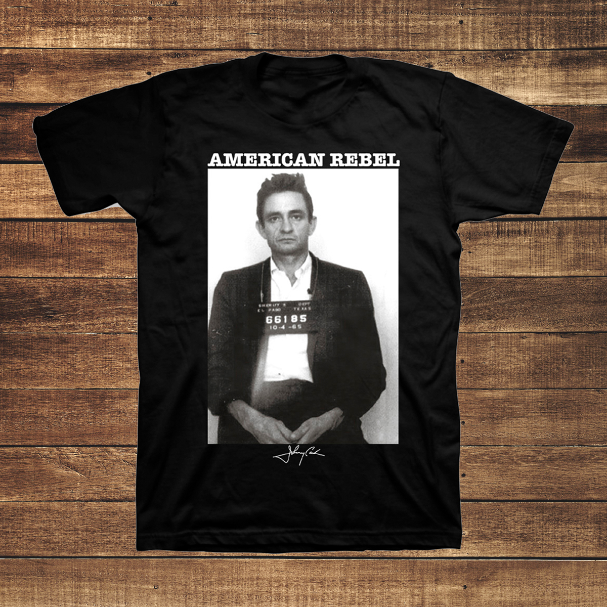 Johnny Cash Mug Shot Men's T-shirt