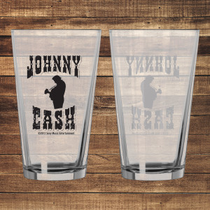 Cash Silhouette Pint Glass