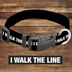 I Walk the Line Dog Collar