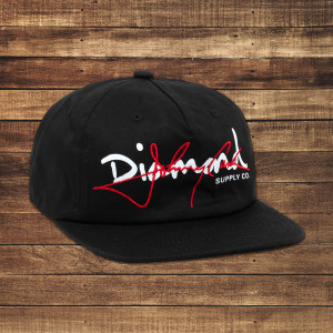 Cash Script Unstructured Black/Red Snapback