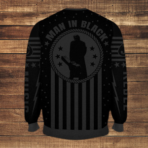 Man in Black Woven Sweater