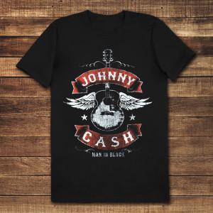 MIB Wings Ribbon Guitar T-Shirt