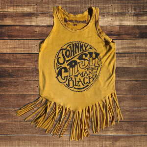 Man In Black Fringe Youth Tank Top
