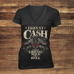 Country Rock n' Roll Women's V-Neck T-shirt