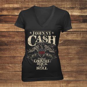 Country Rock n' Roll Women's V-Neck T-shirt