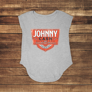 Johnny Cash Emblem Grey Tank