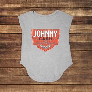 Johnny Cash Emblem Grey Tank