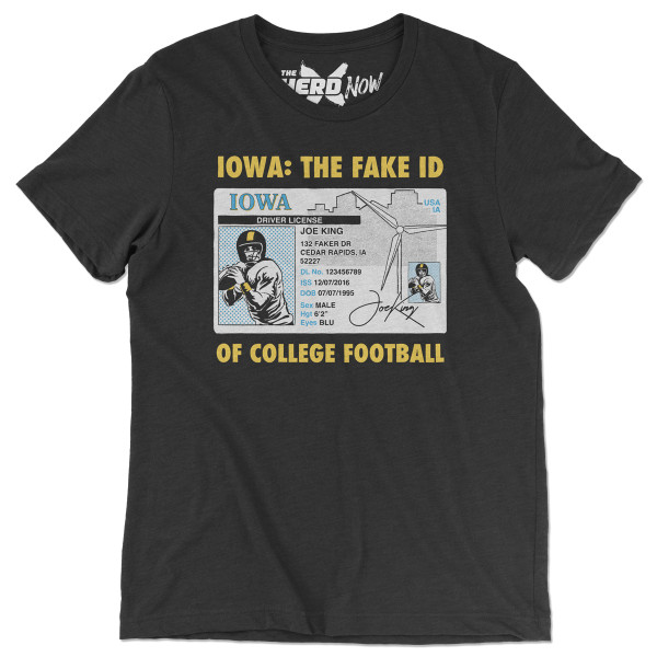 Iowa Fake Id Of College Football Shirt Shop The The Herd Now