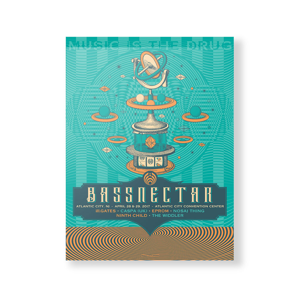 Atlantic City 2017 Poster Shop The Bassnectar Official Store