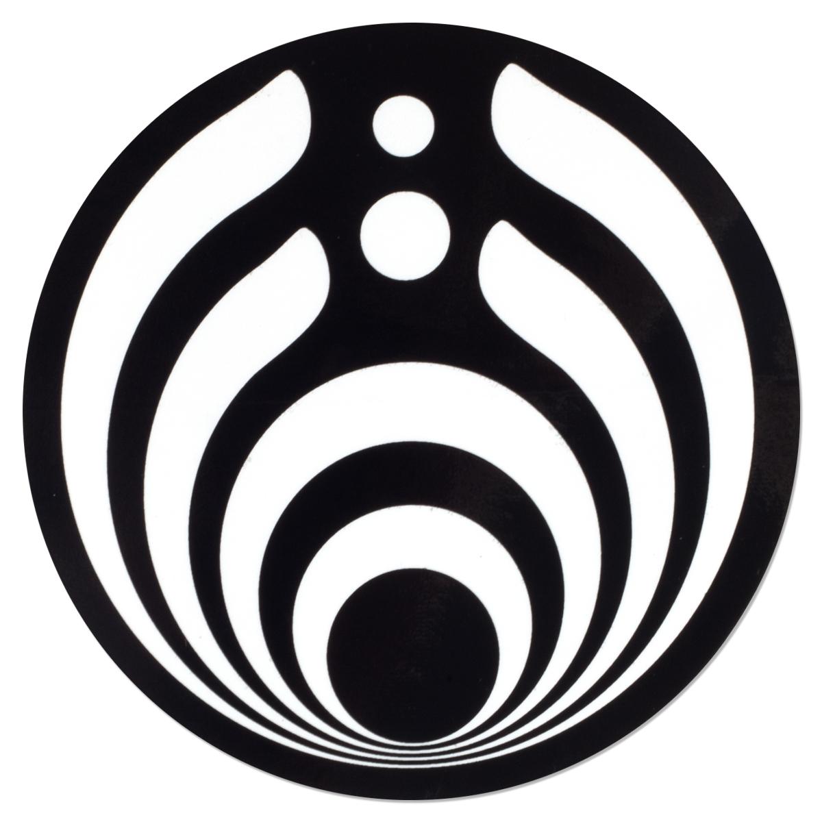 Black and White Emblem Sticker