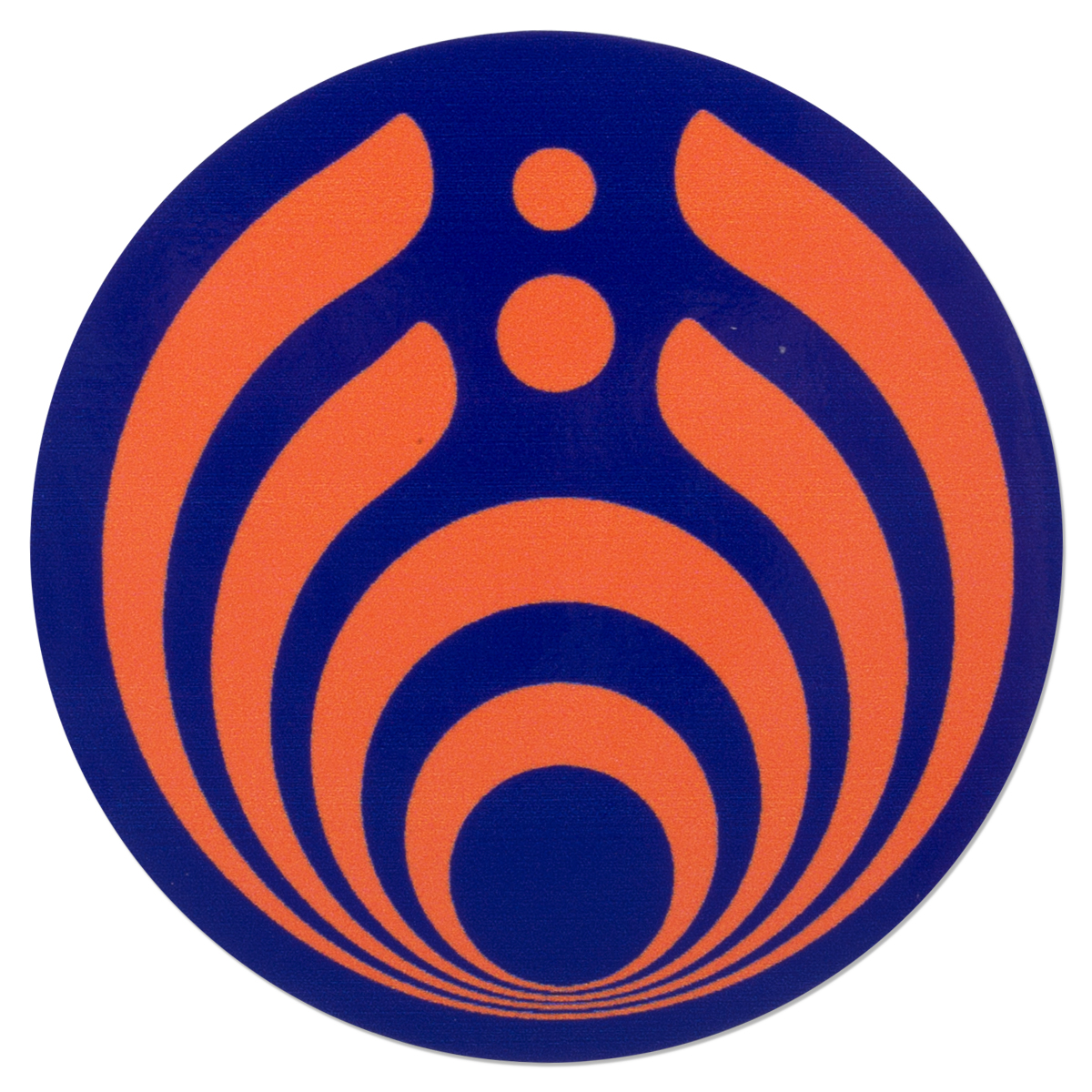 Purple and Orange Emblem Sticker