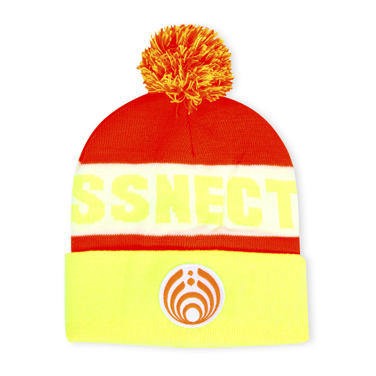 Neon Custom Patch Knit Beanie
