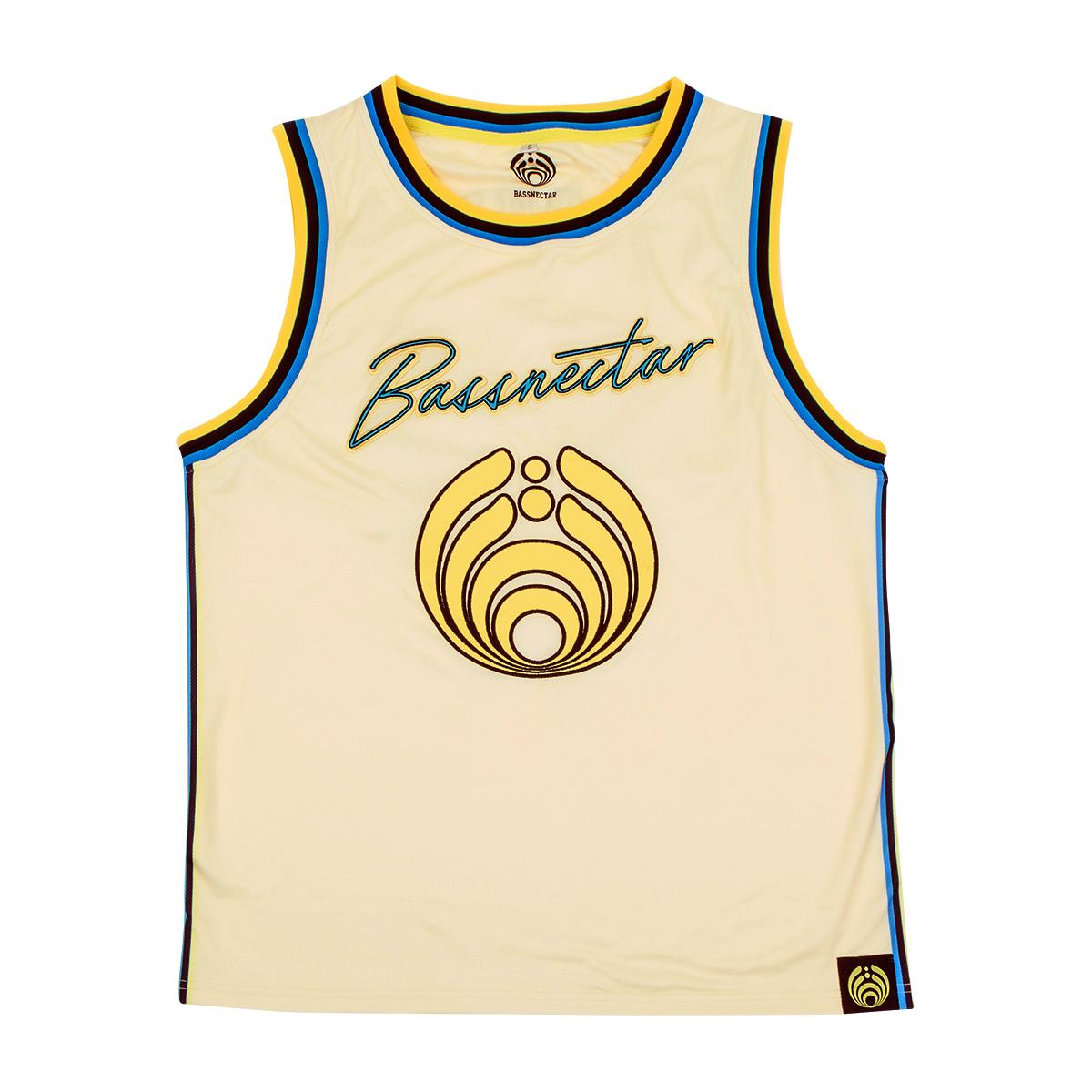 Bass Head 808 Basketball Jersey- Cream
