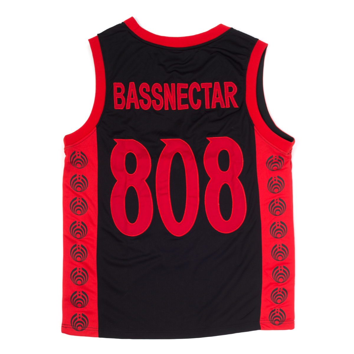 Bassdrop 808 Basketball Jersey - Red/Black