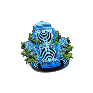 Hourglass Pin – Blue