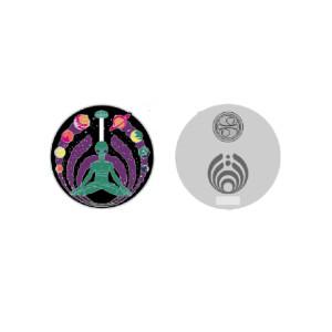 Alien Namaste Pin