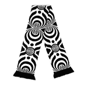 Black/White Knitted Scarf